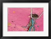 Framed Perky Ts Pink Aqua Crop
