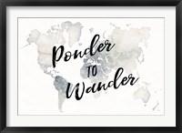 Framed Watercolor Wanderlust Ponder