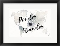 Framed Watercolor Wanderlust Ponder