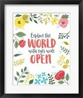 Wildflower Daydreams II v2 on White Framed Print