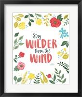 Wildflower Daydreams I v2 on White Framed Print