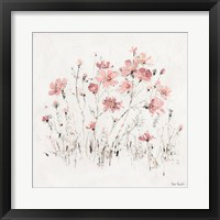 Framed Wildflowers II Pink