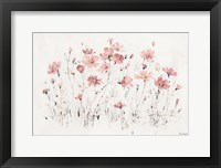 Framed Wildflowers I Pink