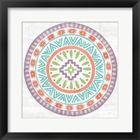Framed Lovely Llamas Mandala II