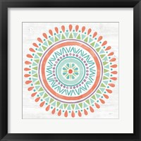 Framed Lovely Llamas Mandala I