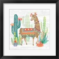 Framed Lovely Llamas III