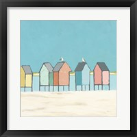 Framed Cabanas II Pastel