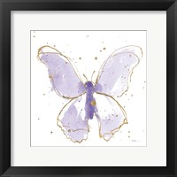 Framed Gilded Butterflies II Lavender