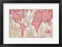 Framed Blushing World Map v2 Crop