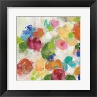 Framed Hydrangea Bouquet I Square I