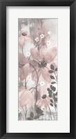 Floral Symphony Blush Gray Crop II Framed Print