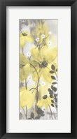 Framed Floral Symphony Yellow Gray Crop II