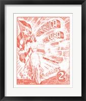 Framed Cuba Stamp XXI Bright