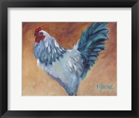 Framed Blue Chick