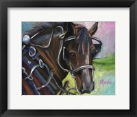 Framed Charleston Working Horse