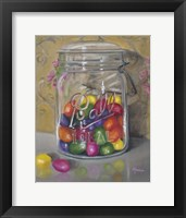 Framed Jar Of Jellybeans