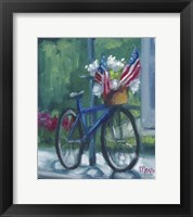 Framed Patriotic Bike