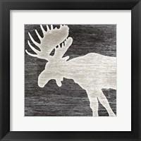 Framed Good Night Moose