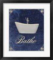 Framed Beloved Bath Blue 1