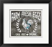 Framed Farm Sign Eggs
