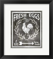 Framed Farm Sign Fresh Eggs