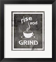 Framed Farm Sign Rise And Grind