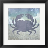Framed Beach Signs Crab