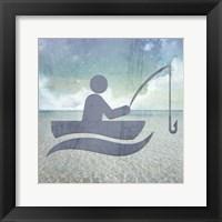 Framed Beach Signs Fishing