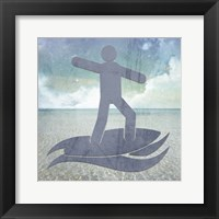 Framed Beach Signs Surfer2