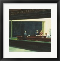 Framed Nighthawks Detail