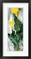 Framed Yellow Calla