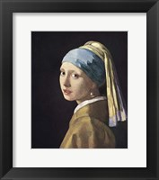 Framed Girl With Pearl Earing