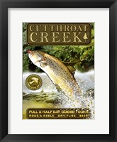 Framed Cutthroat Creek Brown Trout