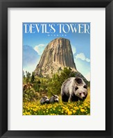 Framed Devils Tower