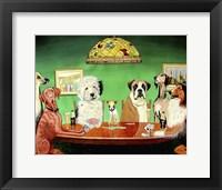 Framed Dogs Playing Poker