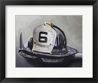 Framed Fire Helmet
