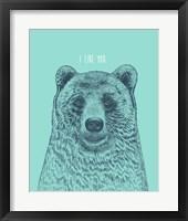 Framed I Like You Bear