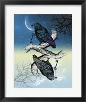 Framed Raven Night and Day