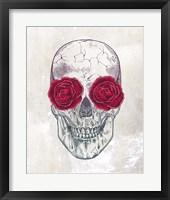 Framed Skull Roses