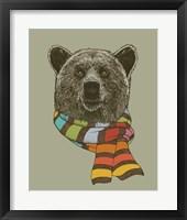 Framed Bear Scarf
