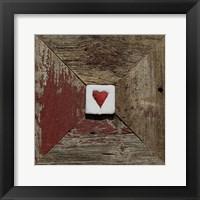Framed Hearts' Desire Barn - Red