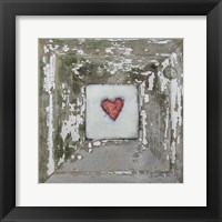 Framed Hearts' Desire Distressed White
