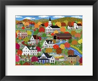 Framed New England Autumn