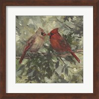 Framed Kissing Cardinals