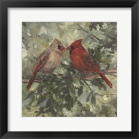 Framed Kissing Cardinals