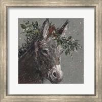 Framed Mary Beth the Christmas Donkey