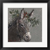 Framed Mary Beth the Christmas Donkey