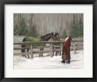 Framed Santa with Horses