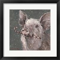 Framed Teri the Christmas Pig