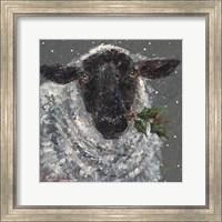 Framed Wren the Christmas Sheep